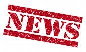 News Grunge Red Stamp