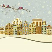 Winter Christmas Houses