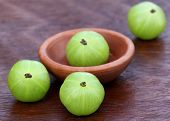 Fresh Amla With A Small Bowl
