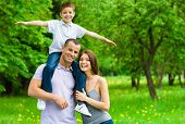 foto of father time  - Happy family of three - JPG
