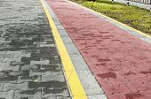 Marked bicycle path