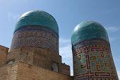 domes of the Shakhizinda complex in Samarkand, Uzbekistan