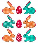 Set of application Easter rabbits