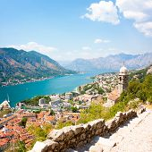 View of Kotor Old Town from Lovcen Mountain