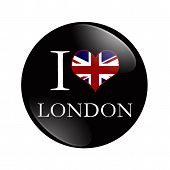 I Love London Button