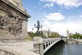 Bridge Alexandre III, of the left bank to the Grand Palais (Paris France)
