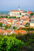 Mikulov Castle In Typical Moravian Town