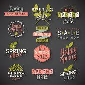 Spring sale labels