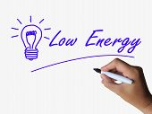 Low Energy And Lightbulb Indicate Less Power Or Eco-friendly