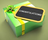 Congratulations Present Card Shows Accomplishments And Achieveme