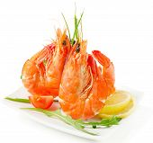 Tiger Shrimps With Fresh Vegetables