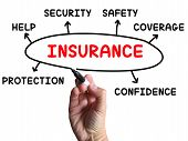 foto of asset  - Insurance Diagram Showing Protection Coverage And Security - JPG