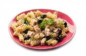 image of swordfish  - fusilli with swordfish and black olives - JPG