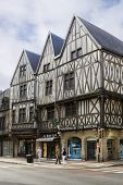 Three Ancient Half-timbered Houses In Dijon, France