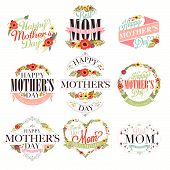 Vintage Happy Mothers's Day Typographical Set