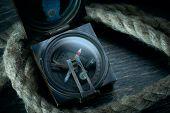 Old marine compass