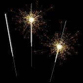 Sparkler. Vector illustration.