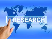 Research Map Represents Internet Researcher Or Researched Analyz