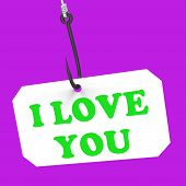 I Love You On Hook Means Love And Romance