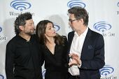 APRIL 19-ANAHEIM, CA:  Andy Serkis, Keri Russell and Gary Oldman arrive at the 2014 Annual Wondercon