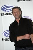 APRIL 19-ANAHEIM, CA: Sean Bean arrives at the 2014 Annual Wondercon press room for TNT's