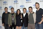 APRIL 19-ANAHEIM, CA: Eric Bana, Scott Derrickson, Olivia Munn, Jerry Bruckheimer, Edgar Ramirez and