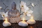 Buddha in meditation, religious concept