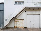 Urban background. Warehouse doors.