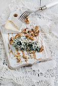 Camembert, blue cheese and walnut