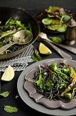 picture of cuttlefish  - Cuttlefish ink spaghetti with broccoli - JPG