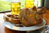 Grilled Pork With Sweet Beer Mustard And Pretzels