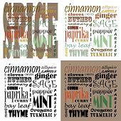 Spice Text Art - Set Of 4