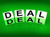 Deal Blocks Show Dealings Transactions And Agreements