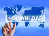 Download Map Shows Downloads Downloading And Internet Transfer