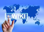 Wiki Map Means Internet Information And Encyclopaedia Websites