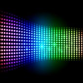 Rainbow Light Squares Background Shows Colourful Digital Art