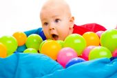 Baby With Colorful Balls