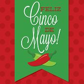Retro Style Cinco De Mayo (happy 5Th Of May) Card In Vector Format.