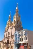 San Francisco Saints Peter and Paul Church at Washington Square in Filbert St California USA