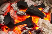 Charcoal Burn Fire Background