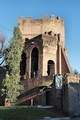 The Porta San Paolo In Rome