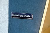 Beatles Square On Reeperbahn Street, Hamburg, Germany