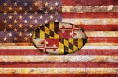 Wooden Flag Of Maryland.