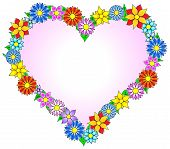 Flower Border Heart