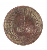 Bronze coins of 1 lei.