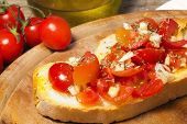 Bruschetta With Tomato, Garlic And Oil