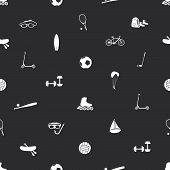 summer sports and equipment icon pattern eps10