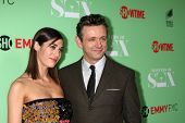 LOS ANGELES - APR 29:  Lizzy Caplan, Michael Sheen at the