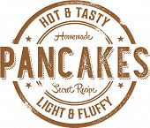 Breakfast Pancakes Vintage Style Stamp Sign