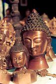 Lord Buddha Metallic Sculpture, Vintage